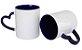 36 Caneca Love Branca para Sublimação com Alça e Interior Azul - Imagem 1