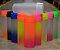 Garrafa Acqua Bio Degradê Incolor Efeito Gelado Tampa Transparente Liso  - Imagem 1