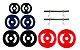 Kit Musculação com 20kg de anilhas e barra de 40cm com presilhas - Imagem 1