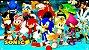 Painel para decoração de festa infantil - Sonic - Imagem 1
