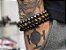 Pulseira Masculina Bolinha Pedra 8mm 3 Peças Olho De Tigre - Imagem 2