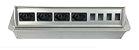 Caixa De Tomada SLIM-AW4T Com 4 Tomadas + Posições RJ45 - Imagem 1
