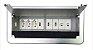 Painel De Tomada Para Mesas Em Alumínio Anodizado QM26-M24 - Imagem 1