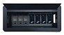 Caixa De Tomadas + Posições Para Rede e Multimídia - DMEX07-M4 - Imagem 1