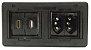 Caixa De Tomada Em ABS Com Tomadas e multi Conexões - QMF4-M17 - Imagem 1