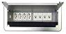 Caixa De Tomadas Para Mesas + Conexões Para Rede Cat5 - QM26-M2 - Imagem 1