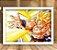 Poster com Moldura - Goku Super Sayajin Attack - Imagem 1