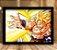Poster com Moldura - Goku Super Sayajin Attack - Imagem 2
