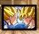 Poster com Moldura - Goku Vs Vegeta SSJ - Imagem 2