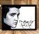 Poster com Moldura - Elvis The King Of Rock - Imagem 1