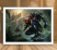 Poster com Moldura - League of Legends LoL Zed - Imagem 2