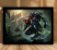 Poster com Moldura - League of Legends LoL Zed - Imagem 1