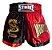 Shorts Muay Thai Kick Boxing Vermelho e Preto - Strike - Imagem 1