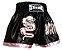 Short de Muay Thai Dragão Preto com Rosa - Strike - Imagem 1