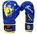 Luva Muay Thai Carbon Azul com Amarelo Skull- Full Fighter - Imagem 2