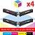 Kit Toner Compatível HP CB 540 A Preto + HP CB 541 A Ciano + HP CB 542 A Amarelo + HP CB 543 A Magenta | CP 1518 CP 1215 CM 1312 CP 1510 CP 1515 - Imagem 1