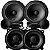 Alto Falante Kit 2 Vias Nar Audio 6 Pelegadas 600cs1 + Coaxial 5 Polegadas 525cx1 200rms Som Automotivo - Imagem 1
