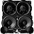 Alto Falante Kit 2 Vias Nar Audio 4 Polegadas 400cs1 + Coaxial 400cx1 200rms Som Automotivo - Imagem 1