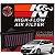 Filtro De Ar Esportivo Original K&n Toyota Yaris Motor 1.3 e 1.5 Kn 33-3018 - Imagem 1