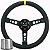 Volante Esportivo Lotse Maxx Competition Couro Preto Tarja Amarela + Cubo de Instalação - Imagem 1