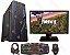 PC Gamer SUPER COMPLETO Intel Core I3 Coffee Lake 8100, 8GB DDR4, HD 500GB, GPU GEFORCE GTX 1050 2GB, Monitor LED 19.5, Teclado, Mouse, Headset GAMER - Imagem 1