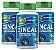 Zincal - Kit com 3 - 180 Caps (950mg) - Unilife - Imagem 1