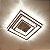Lustre de Cristal K9 Plafon LED Quadrado 3 Cores 40x40 - Imagem 2