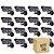 Kit 16 Câmera Segurança de LED Bullet Infravermelho HD 36 LEDs Preta - Imagem 1