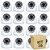 Kit 16 Câmera Segurança de LED Dome Infravermelho AHD 36 LEDs 1200TVL - Imagem 1