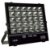Refletor Holofote MicroLED 100W Multifocal Branco Frio Preto - Imagem 1