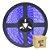 Fita LED Azul 3528 3 metros com Fonte - Imagem 1