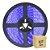 Fita LED Azul 5050 1 metro IP65 com Fonte - Imagem 1