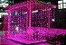 Cortina de LED 300 LEDs Cascata 3m x 2m Rosa Bivolt - Imagem 1