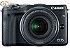 Camera Canon EOS M3 EF M 18 55mm IS STM 24.2 Mega Pixels Hybrid CMOS AF III Full HD  - Imagem 1