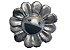 "!TAKASHI MURAKAMI x COMPLEXCON - Pin Flower Plush Pin ""Prata"" -NOVO- - Imagem 1"