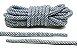 Cadarço Rope Refletivo - Branco e Cinza - 82 cm - Imagem 1