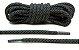 Cadarço Rope Refletivo - Preto e Cinza - 82 cm - Imagem 1