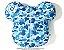 """Bape x Medicom - Travesseiro ABC Camo Bear Cushion """"Blue"""" - Imagem 1"""