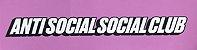 "ANTI SOCIAL SOCIAL CLUB - Adesivo Logo ""Pink"" - Imagem 1"