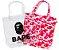 """BAPE - Bolsa ABC Clear Tote Bag """"Pink"""" - Imagem 1"""