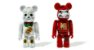 MEDICOM TOY x BAPE - Bonecos Bearbrick Manekineki & Daruma 100% (Pack c/2) -NOVO- - Imagem 1