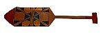 Remo de madeira decorativo - Tribo Mehinako - Imagem 3