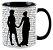 Caneca - Mr. Darcy e Elizabeth - Jane Austem - Imagem 2