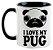 Caneca - Eu amo meu Pug - Imagem 1