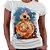Camiseta Feminina - Star wars BB8 - Aquarela - Imagem 1