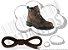 Cadarço de Boot ou Bota Marrom Escuro Redondo Pol 120cm (Par) - Imagem 1