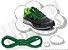 Cadarço de Tênis Verde Oval Pol 120cm (Par) - Imagem 1