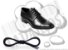 Cadarço de Sapato Preto Encerado Redondo Alg 70cm (Par) - Imagem 1