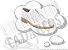 Cadarço de Sapato Branco Redondo Pol 60cm (Par) - Imagem 1