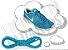 Cadarço de Tênis Azul Turquesa Oval Pol 120cm (Par) - Imagem 1